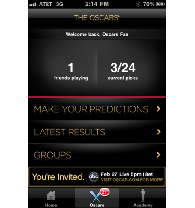 APP OF THE DAY: The Oscars review (iPhone) - photo 2