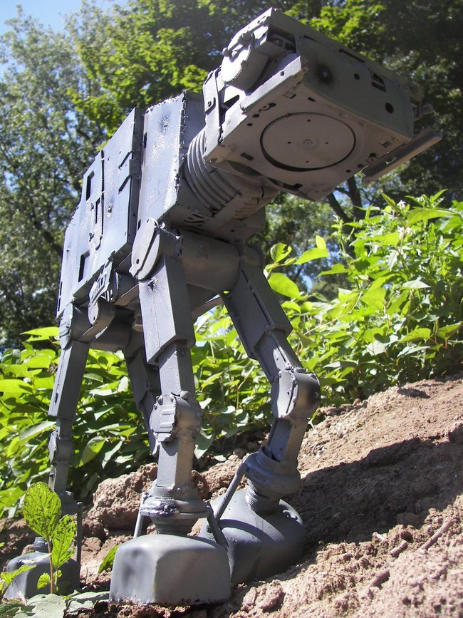 Star Wars AT-AT Imperial Walker made from recycled computer parts for sale - photo 5