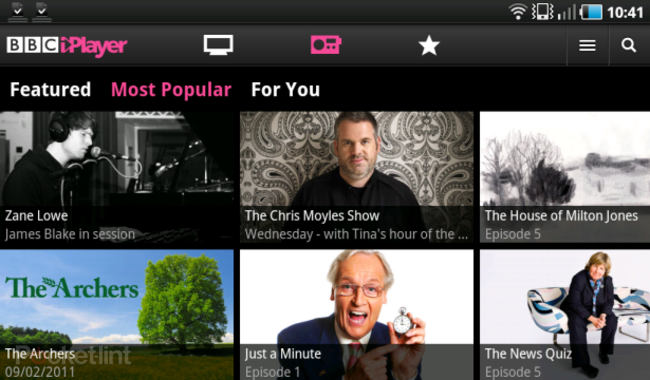 BBC iPlayer app live in Android Market - photo 1