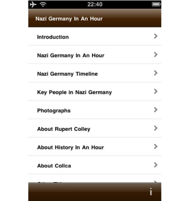 APP OF THE DAY: Nazi Germany In An Hour review (iPhone/iPod touch/iPad) - photo 3