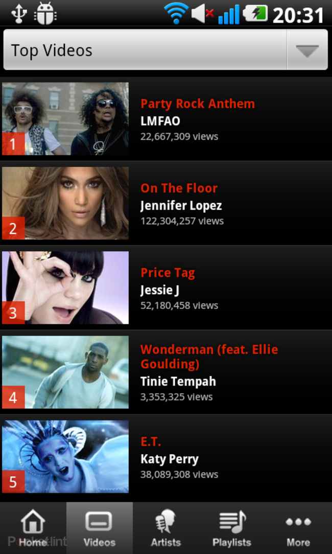 APP OF THE DAY: Vevo review (Android)   - photo 6