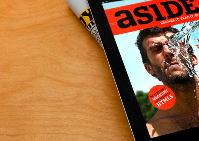 Aside HTML5 magazine: The future of publishing? - photo 1