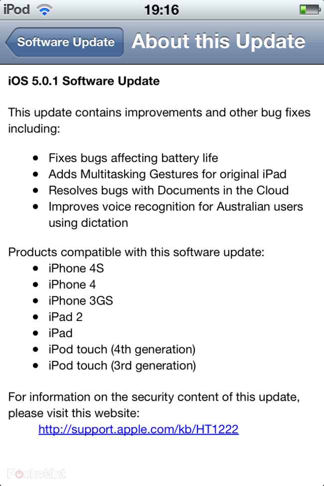 iOS 5.0.1 released to fix your iPhone battery woes - photo 2