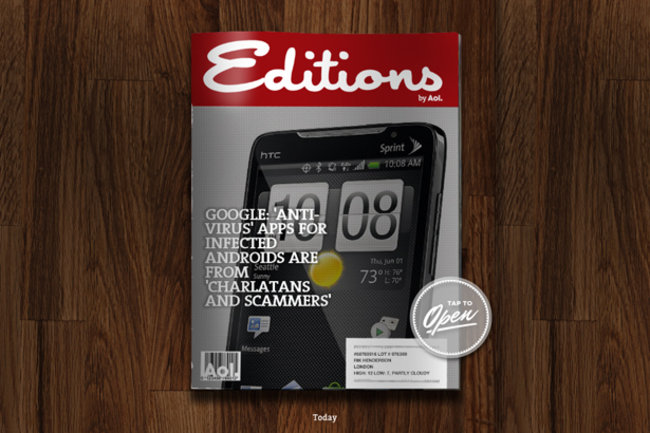 APP OF THE DAY: Editions by AOL review (iPad) - photo 1