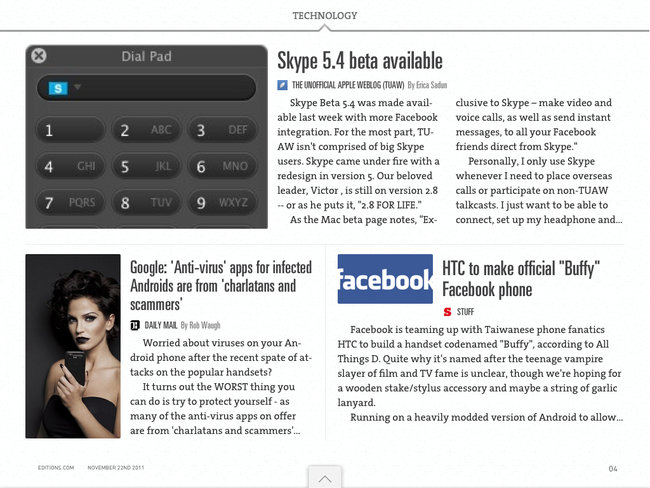 APP OF THE DAY: Editions by AOL review (iPad) - photo 3