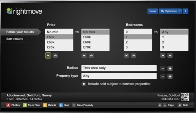 APP OF THE DAY: Rightmove review (Samsung TVs) - photo 3