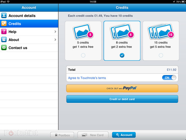 APP OF THE DAY: Touchnote Postcards for iPad review - photo 7