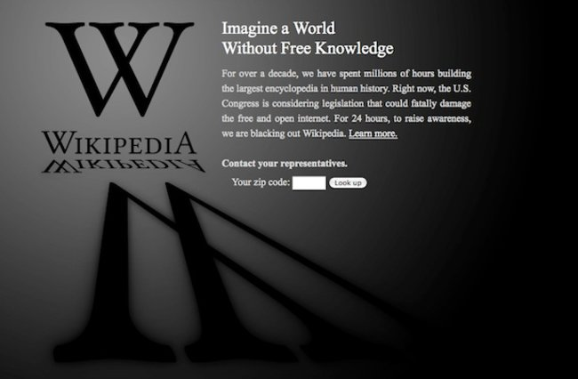 Wikipedia hits record numbers following SOPA black-out - photo 2