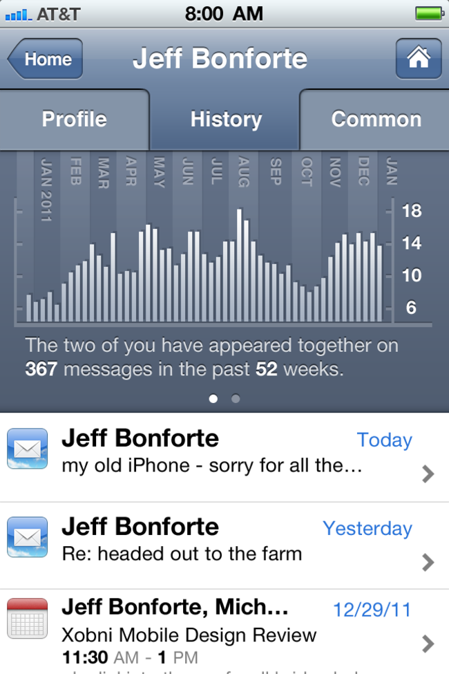 Xobni Smartr Contacts lands on iPhone - photo 3