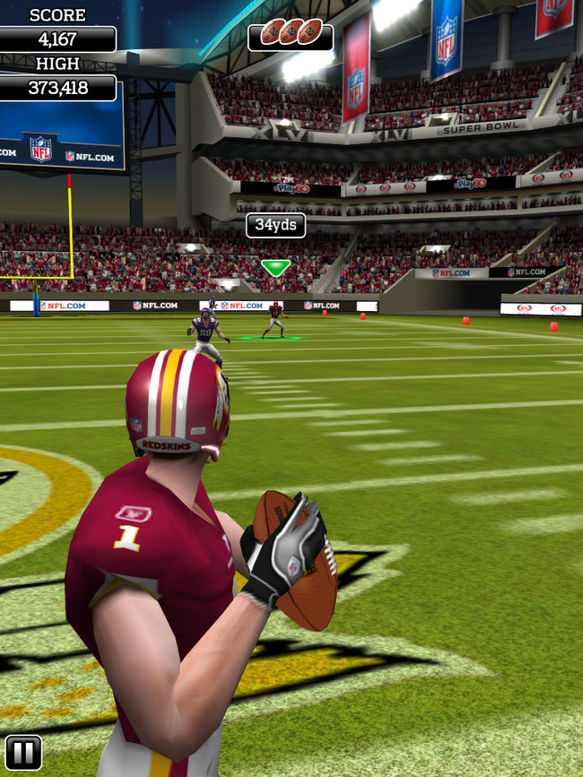 APP OF THE DAY: NFL Flick Quarterback review (iPad / iPhone / Android) - photo 12