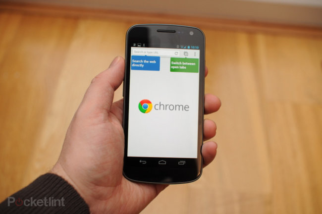 Google Chrome for Android pictures, video and hands-on - photo 1