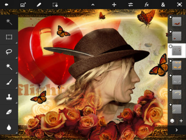 Adobe Photoshop Touch now on iPad 2 too - photo 1