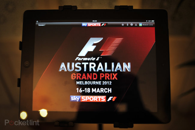 Sky Sports for iPad F1 pictures and hands-on - photo 1