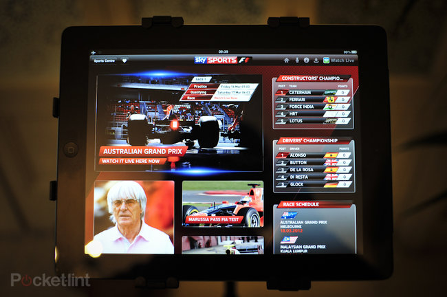 Sky Sports for iPad F1 pictures and hands-on - photo 2