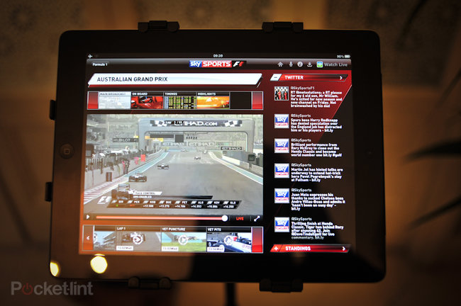 Sky Sports for iPad F1 pictures and hands-on - photo 3
