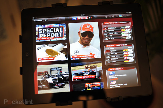 Sky Sports for iPad F1 pictures and hands-on - photo 9