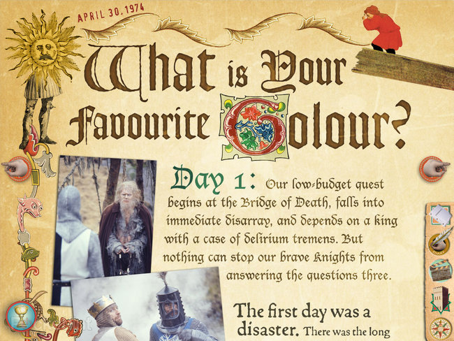 APP OF THE DAY: Monty Python The Holy Book of Days review (iPad) - photo 2