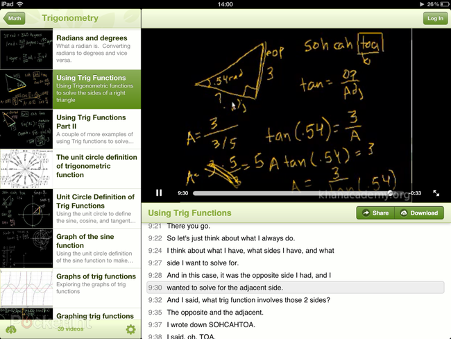 APP OF THE DAY: Khan Academy review (iPad) - photo 4