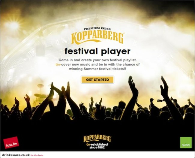 Spotify and Last.fm join forces for Kopparberg festival app - photo 4