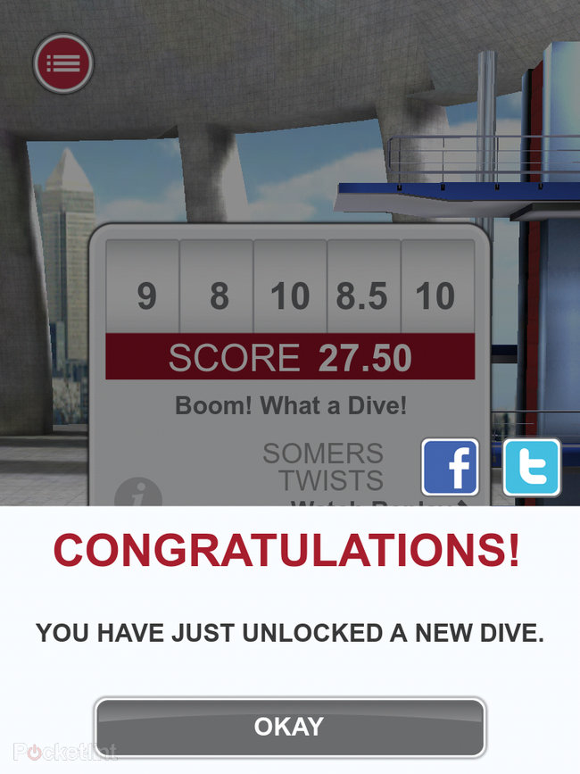 APP OF THE DAY: Tom Daley Dive 2012 review (iPad / iPhone / iPod touch) - photo 4