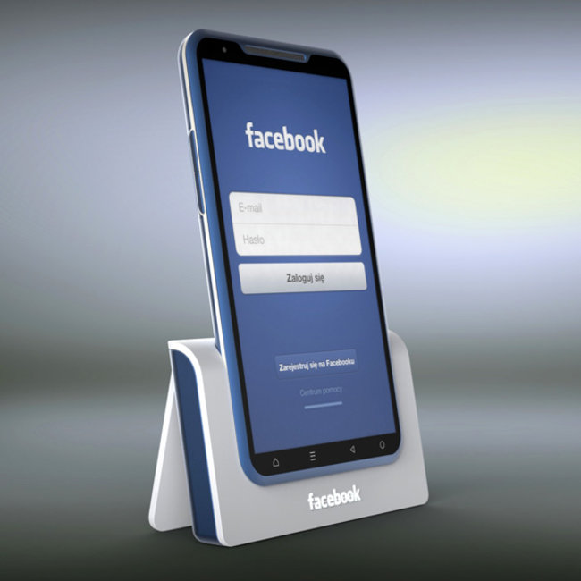 The Facebook Phone concept that is very blue - photo 3