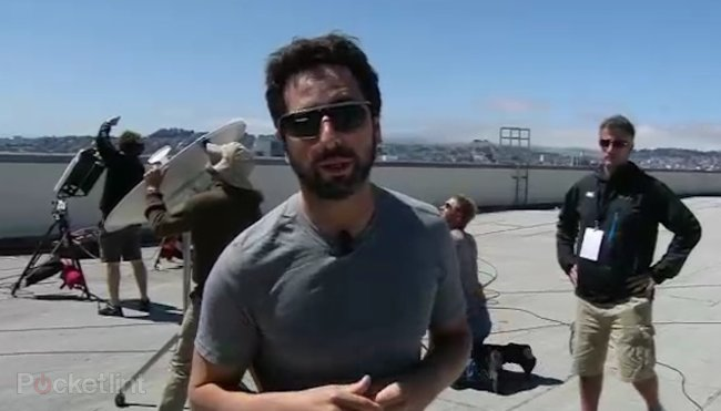 Sergey Brin shows off Google Project Glass sunglasses - photo 1