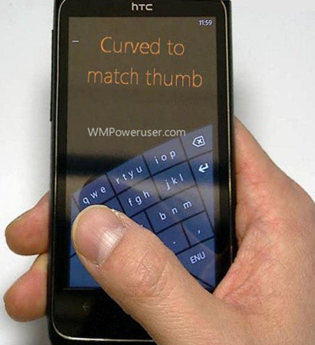 Windows Phone 8 to get arched keyboard, for better one-handed texting - photo 2