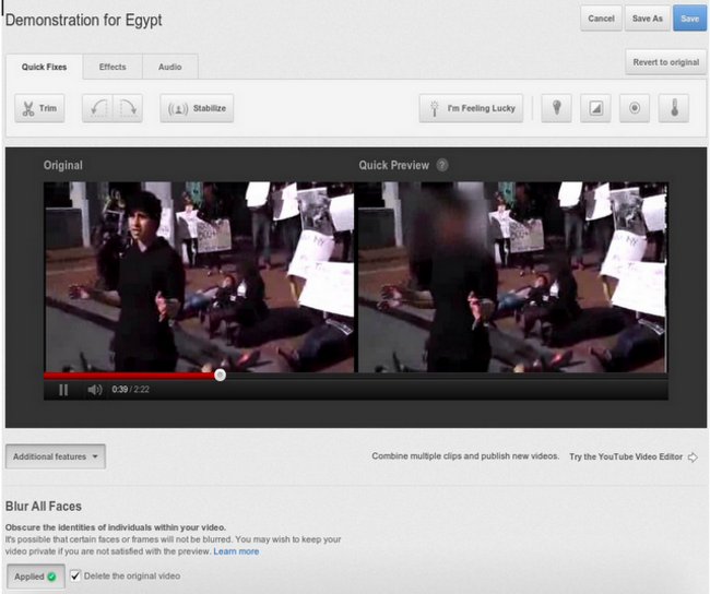 YouTube introduces face blurring tool - photo 2