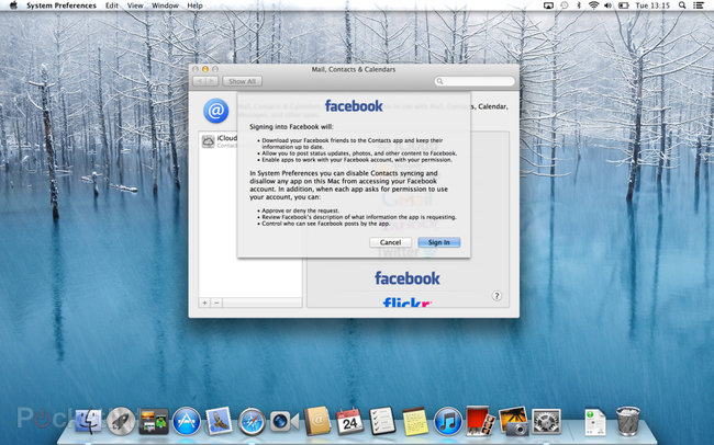 Facebook in OS X Mountain Lion details, we go hands-on - photo 1