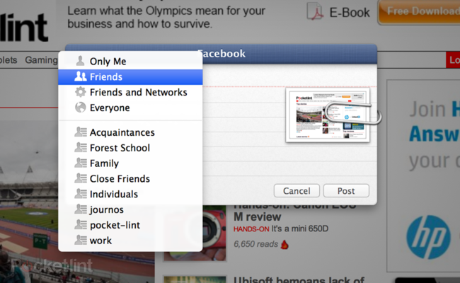 Facebook in OS X Mountain Lion details, we go hands-on - photo 3