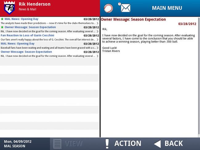 APP OF THE DAY: iOOTP Baseball 2012 Edition review (iPad / iPhone / iPod touch) - photo 15