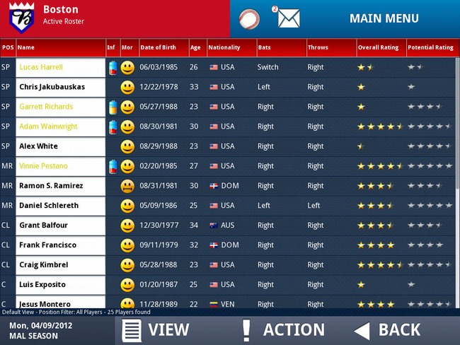 APP OF THE DAY: iOOTP Baseball 2012 Edition review (iPad / iPhone / iPod touch) - photo 4