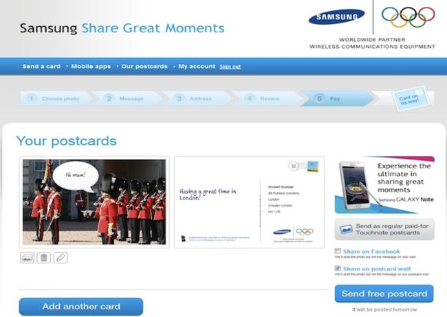 Touchnote and Samsung will deliver your postcards for free this summer - photo 1