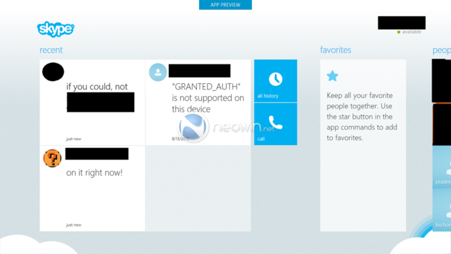 Skype app for Microsoft's Modern UI screenshots revealed - photo 2