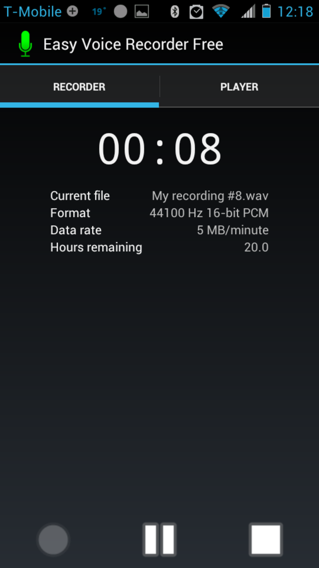 APP OF THE DAY: Easy Voice Recorder Free (Android) - photo 4
