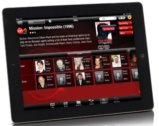 Virgin TV Anywhere iOS app revealed, ideal companion to your TiVo box - photo 2