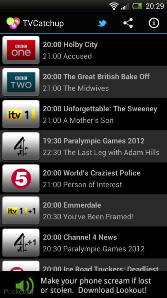 APP OF THE DAY: TVCatchup review (Android) - photo 3
