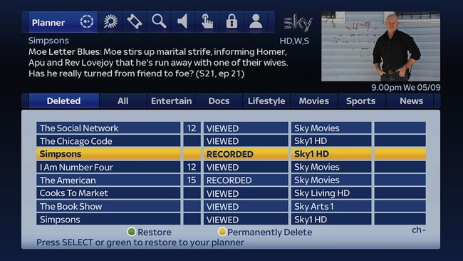 Sky+ updated with undelete function and Catch Up TV - photo 2