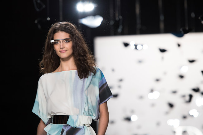 Google Glass hits the catwalk as models strut their high tech stuff - photo 3