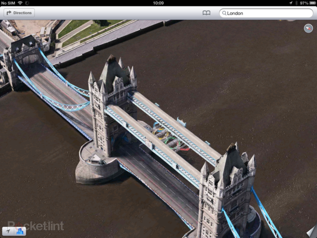 Apple Maps: London Easter eggs show the London Halo, Olympics and Samsung advert - photo 1