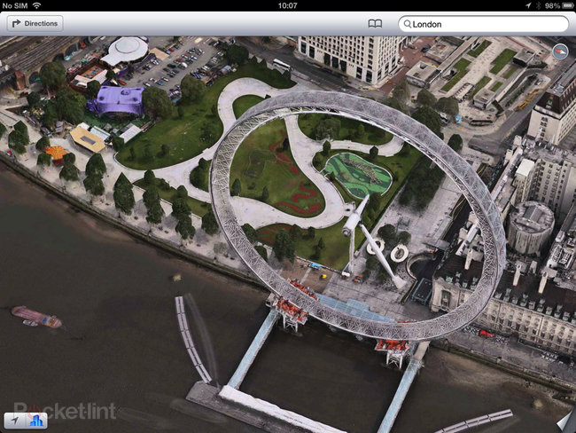 Apple Maps: London Easter eggs show the London Halo, Olympics and Samsung advert - photo 2