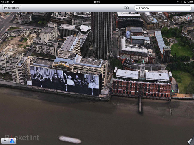 Apple Maps: London Easter eggs show the London Halo, Olympics and Samsung advert - photo 3