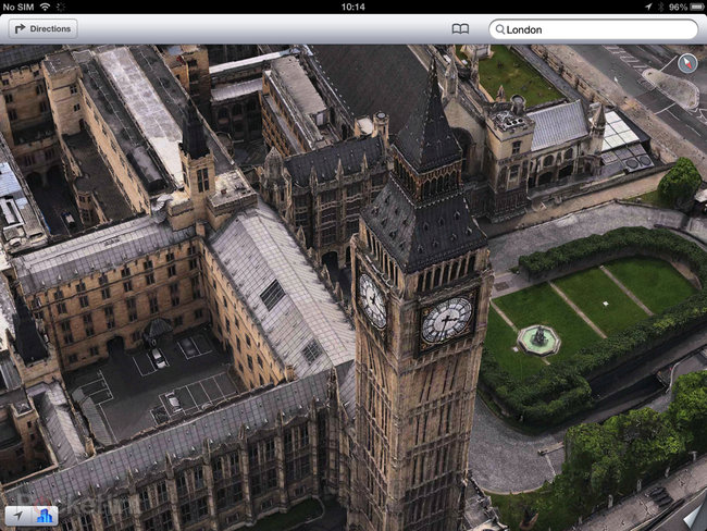 Apple Maps: London Easter eggs show the London Halo, Olympics and Samsung advert - photo 4