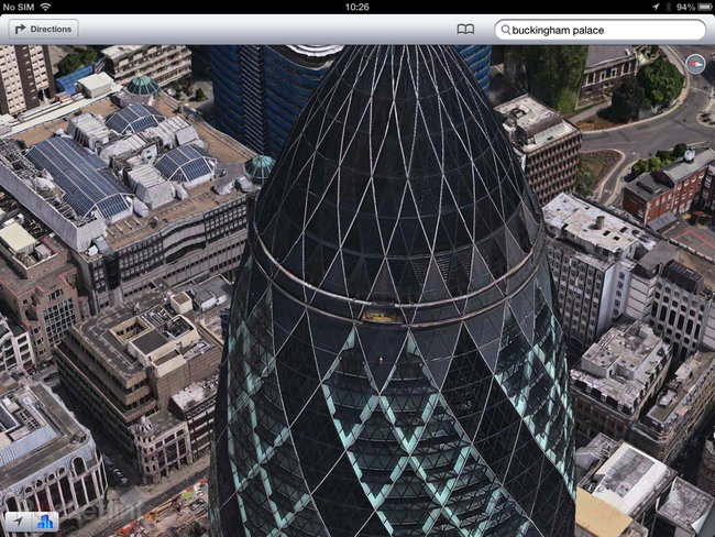 Apple Maps: London Easter eggs show the London Halo, Olympics and Samsung advert - photo 7