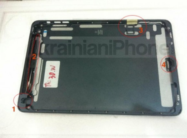 iPad mini parts turn up, mimics black iPhone 5 design - photo 1