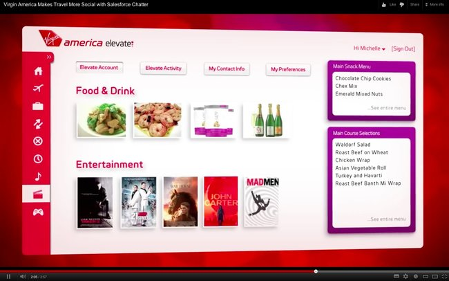 Virgin America to introduce new intelligent social personalised in-flight entertainment system - photo 4