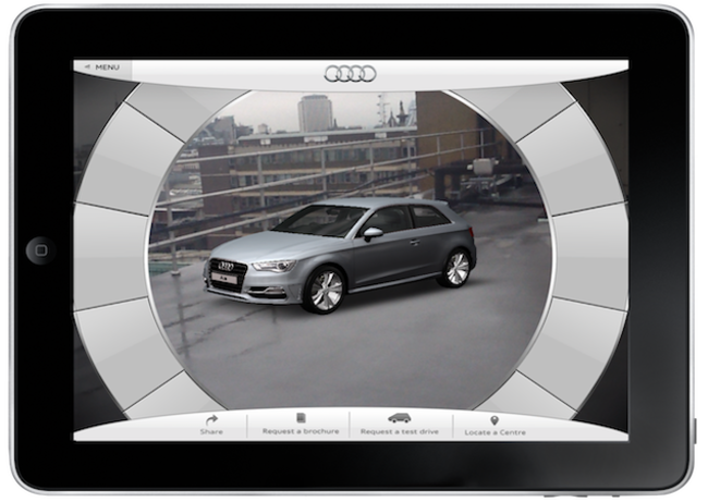 Audi A3 app lets you get inside the car through your iPad - photo 5