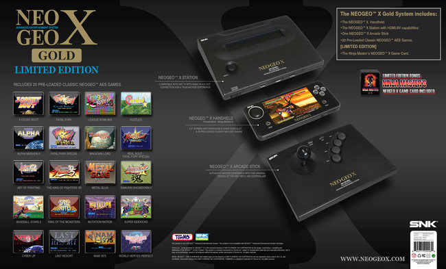 NeoGeo X Gold Limited Edition coming to UK 6 December, priced £175 - photo 12