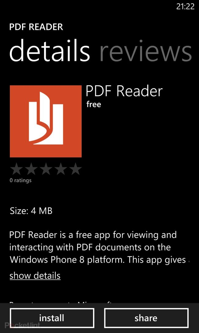 Windows Phone 8 Microsoft PDF Viewer app available for download - photo 2