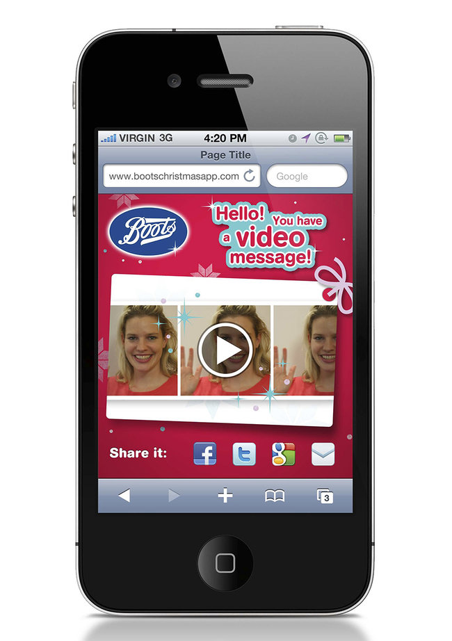 Boots Christmas app adds video messages to gift tags - photo 2